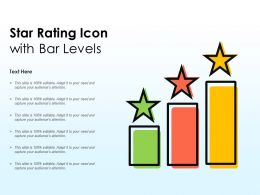 Star Rating Icon With Bar Levels