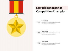 Star Ribbon Icon For Competition Champion