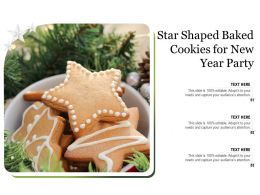 Star Shaped Baked Cookies For New Year Party