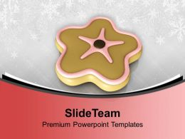 Star Shaped Cookie Birthday Time Powerpoint Templates Ppt Themes And Graphics 0113