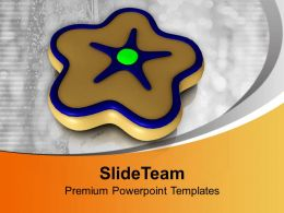 Star Shaped Cookie Brown Color Candy Powerpoint Templates Ppt Themes And Graphics 0113