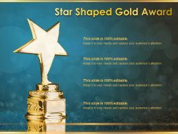 Star Shaped Gold Award