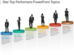 Star Top Performers Powerpoint Topics
