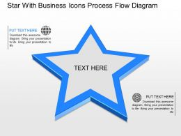 Star With Business Icons Process Flow Diagram Powerpoint Template Slide