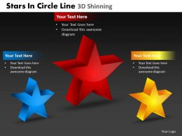 Stars In Circle Line 3d Shinning Powerpoint Slides And Ppt Templates DB