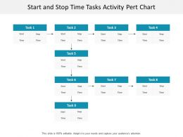 Start And Stop Time Tasks Activity Pert Chart