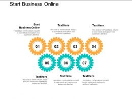 Start Business Online Ppt Powerpoint Presentation Gallery Icon Cpb