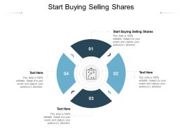 Start Buying Selling Shares Ppt Powerpoint Presentation Ideas Objects Cpb