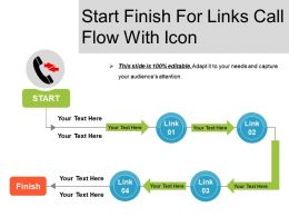 Start Finish For Links Call Flow With Icon