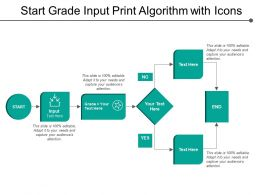 Start Grade Input Print Algorithm With Icons