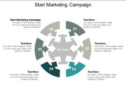Start Marketing Campaign Ppt Powerpoint Presentation Summary Graphics Example Cpb