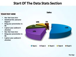 start of the data stats section powerpoint templates