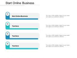 Start Online Business Ppt Powerpoint Presentation Show Slides Cpb