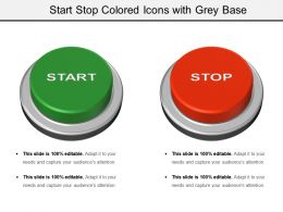Start Stop Colored Icons With Grey Base