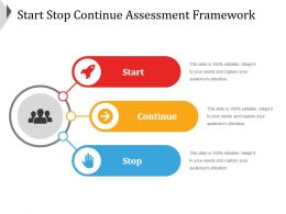 Start Stop Continue Assessment Framework Good Ppt Example