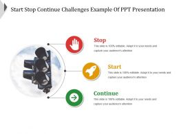 Start Stop Continue Challenges Example Of Ppt Presentation