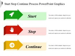 Start Stop Continue Process Powerpoint Graphics