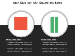 Start Stop Icon With Square And Lines