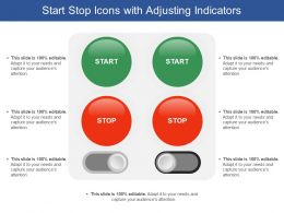 Start Stop Icons With Adjusting Indicators