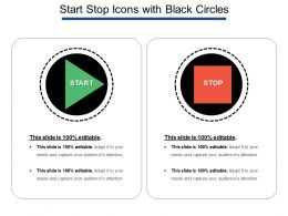 Start Stop Icons With Black Circles