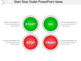 Start Stop Outlet Powerpoint Ideas