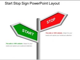 Start Stop Sign Powerpoint Layout