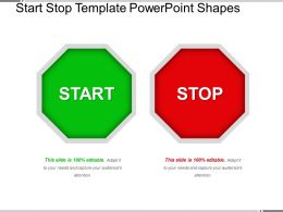Start Stop Template Powerpoint Shapes