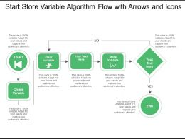 Start Store Variable Algorithm Flow With Arrows And Icons