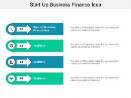 Start Up Business Finance Idea Ppt Powerpoint Presentation Inspiration Influencers Cpb