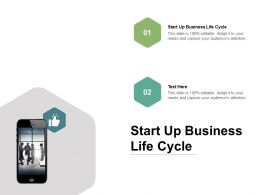 Start Up Business Life Cycle Ppt Powerpoint Presentation Diagram Lists Cpb
