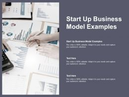 Start Up Business Model Examples Ppt Powerpoint Presentation File Deck Cpb