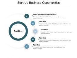Start Up Business Opportunities Ppt Powerpoint Presentation Inspiration Infographics Cpb