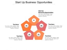 Start Up Business Opportunities Ppt Powerpoint Presentation Portfolio Guide Cpb
