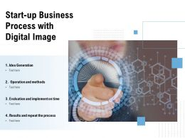 Start Up Business Process With Digital Image