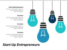 Start Up Entrepreneurs Ppt Powerpoint Presentation Visual Aids Infographics Cpb