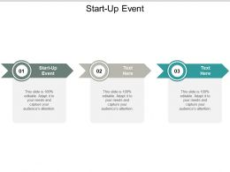 Start Up Event Ppt Powerpoint Presentation Ideas Design Templates Cpb