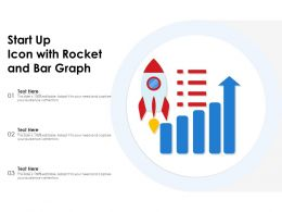 Start Up Icon With Rocket And Bar Graph