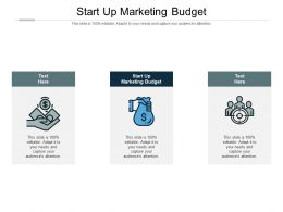 Start Up Marketing Budget Ppt Powerpoint Presentation Icon Images Cpb