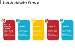 Start Up Marketing Formula Ppt Powerpoint Presentation Professional Guidelines Cpb