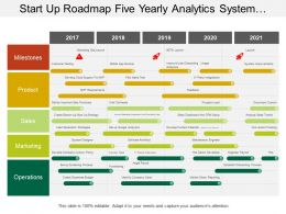 Start Up Roadmap Five Yearly Analytics System Designer Timeline
