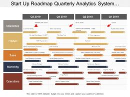 Start Up Roadmap Quarterly Analytics System Designer Timeline