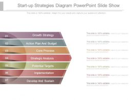 Start Up Strategies Diagram Powerpoint Slide Show