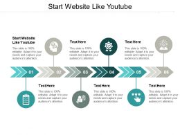 Start Website Like Youtube Ppt Powerpoint Presentation Icon Files Cpb