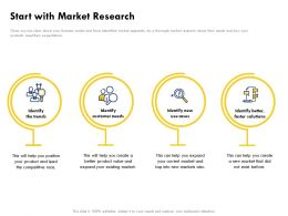Start With Market Research Customer Needs Ppt Powerpoint Presentation Pictures Example