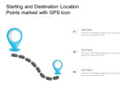 Starting And Destination Location Points Marked With GPS Icon