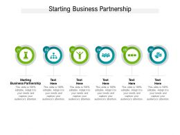 Starting Business Partnership Ppt Powerpoint Presentation Styles Infographics Cpb