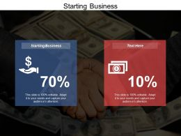 Starting Business Ppt Powerpoint Presentation Icon Deck Cpb