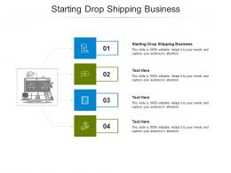 Starting Drop Shipping Business Ppt Powerpoint Presentation Model Visuals Cpb