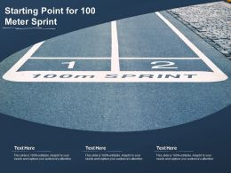 Starting Point For 100 Meter Sprint