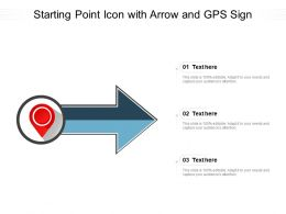 Starting Point Icon With Arrow And GPS Sign